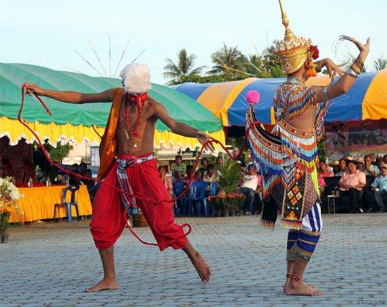 Thai Manora Dancers at the Chak Phra Festival