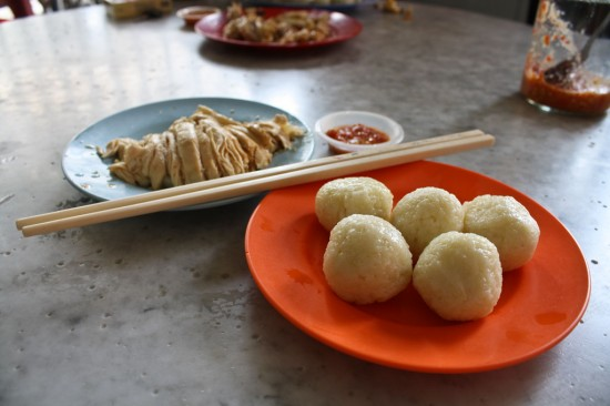 Malaysian chicken and rice balls