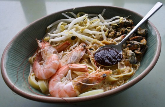 Malaysian Curry Laksa with Seafood