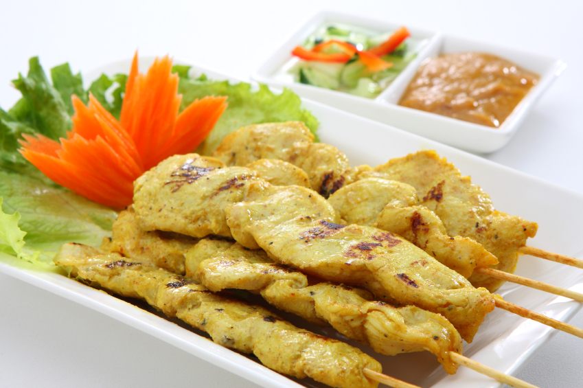 chicken satay peanut chicken with creamy satay blog chicken satay