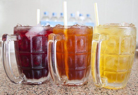 Colorful Thai Herbal Drinks