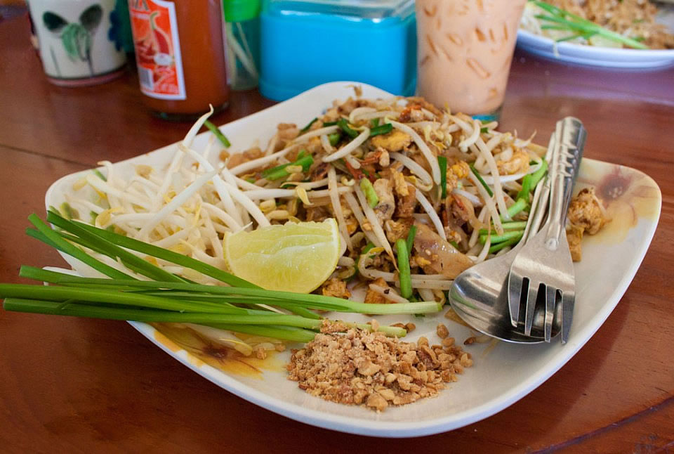Pad thai noodles recipe temple of thai it is most often eaten in thailand when going to the market as a quick snack or at a thai festival but it is not really a dish thais cook at home forumfinder Choice Image