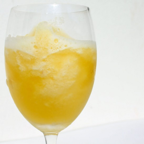 A frosty pineapple and ginger daiquiri Thai-style cocktail