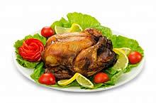 Roast Turkey with Garnishing