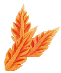 Carrot Leaf Carving
