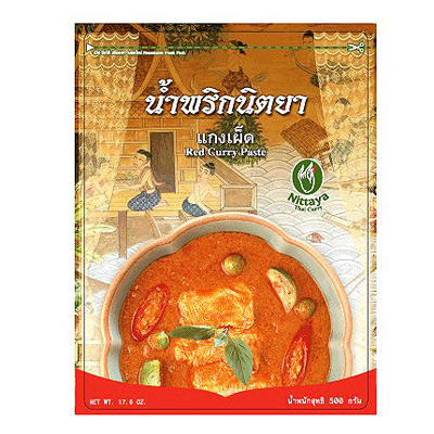 Red Curry Paste Nittaya Family Brand Available At Temple