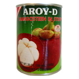 Mangosteen in Syrup, Aroy D (6pks)