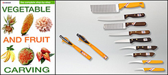 Step-by-Step Book & Kom-Kom Fruit & Vegetable Garnishing Knives, Tools Set
