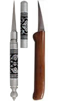 Set: Thai Flexible Knife & Carving Knife in Wood Sheath