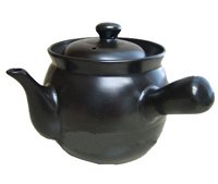 Black Herb Tea Pot