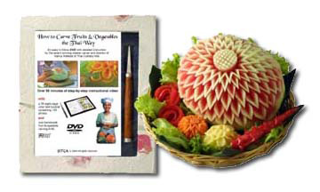 DVD How to Carve Fruits & Vegetables the Thai Way