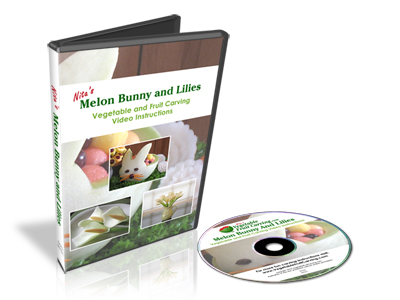 Melon Bunny and Lilies Vegetable Carving DVD