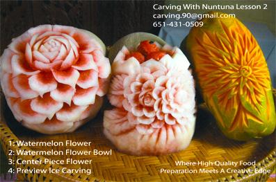 vegetables carving step by step