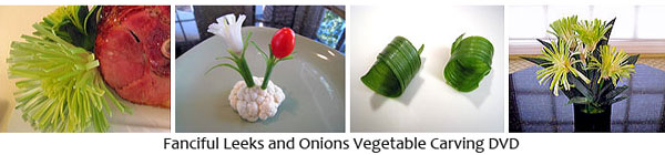 Leek & Onion Vegetable Carving DVD