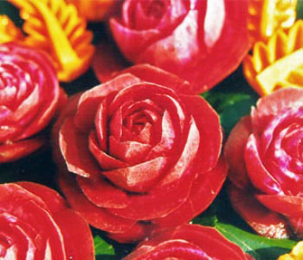 Carved Beet Rose