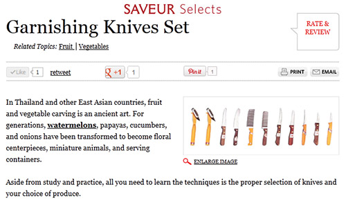 Saveur Selects: Garnishing Knives Set