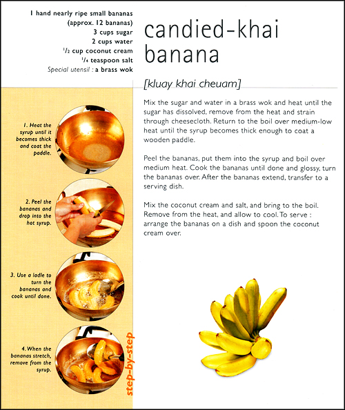 Candied Banana Recipe, Step-by-Step Thai Desserts, Sangdad