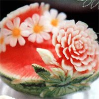 Complete Watermelon Carving   Temple of Thai