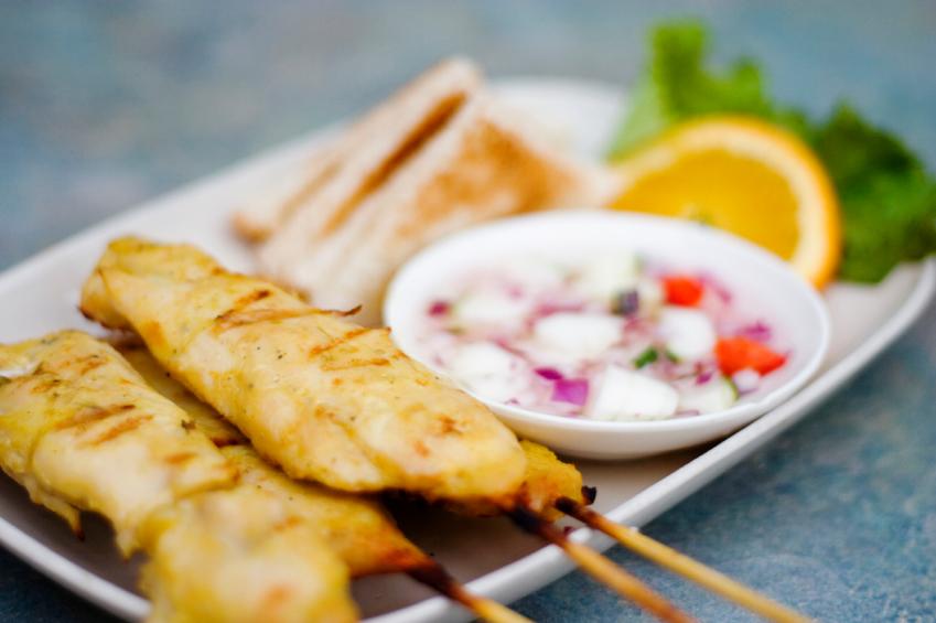 ... satay pork satay with peanut curry moo satay thai pork satay moo satay