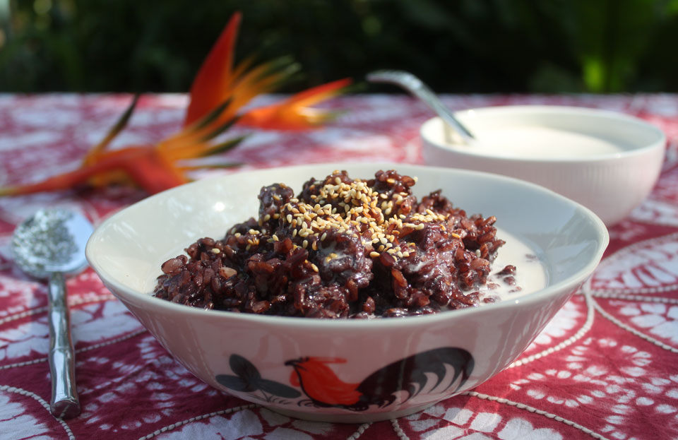 how to cook thai black sticky rice