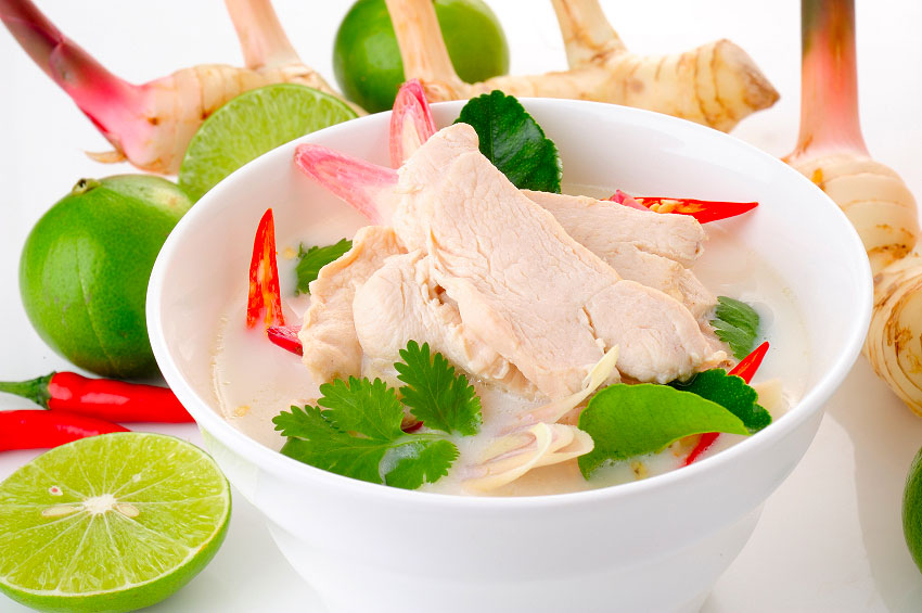 Chicken galangal in coconut milk recipe tom kha gai temple of thai thai chicken coconut milk soup click to enlarge forumfinder Choice Image