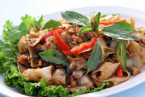 Stir Fry Noodles with Chicken Recipe (Pad Kee Mao) » Temple of Thai