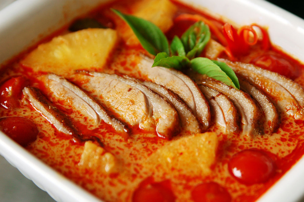 roasted duck curry recipe kaeng phed ped yang temple