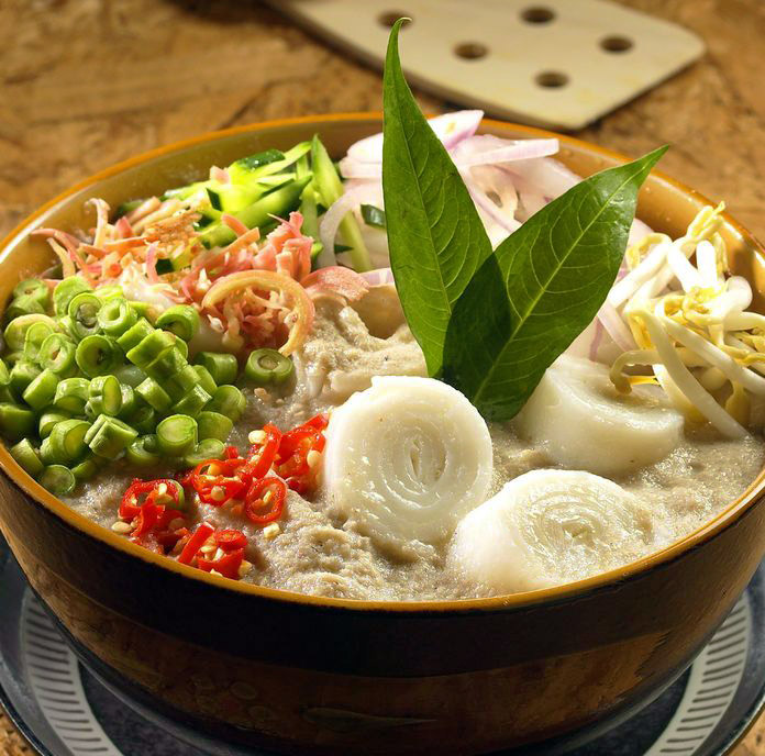 This Nonya version of laksa comes from Malacca in southern Malaysia ...