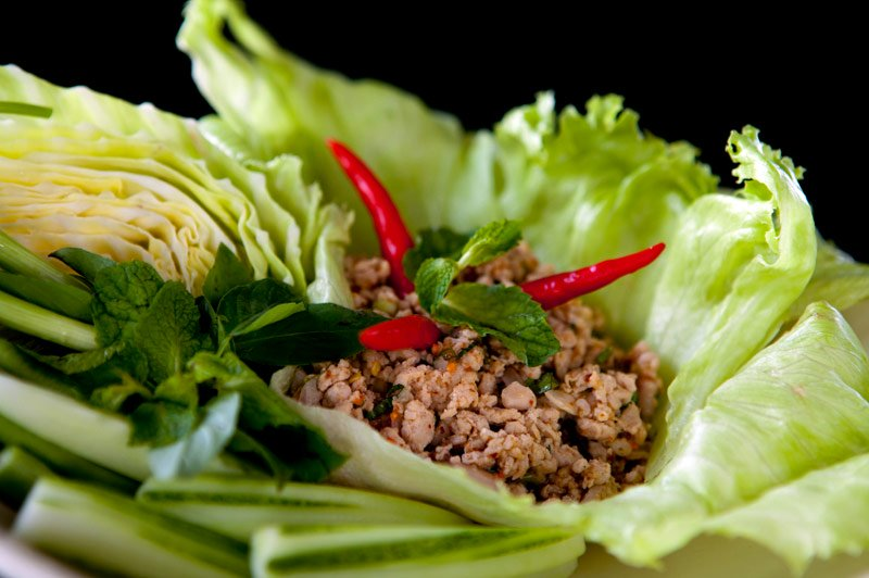 Thai Chicken Salad Recipe (Laab Gai) » Temple of Thai
