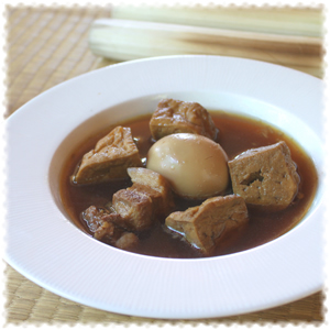 Five Spice Stew with Hard-Boiled Eggs and Pork (Kai Pa-Lo)