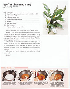 Popular Thai Cuisine Cookbook Page Extract