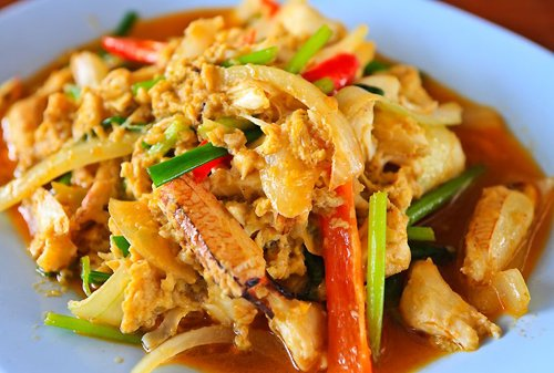 Thai Curry Crab - Boo Paht Pong Karee