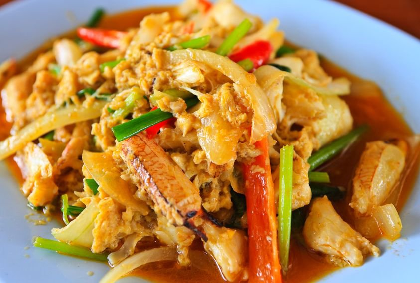 Thai Curry Crab - Boo Paht Pong Karee