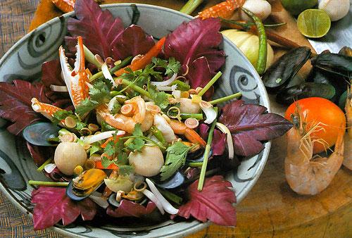 Thai Seafood Salad Recipe Yam Talay 187 Temple Of Thai